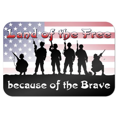 (Land of the Free because of the Brave - Patriotic America USA 9