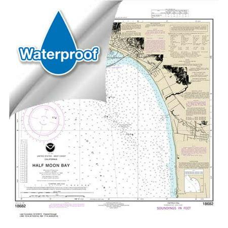 Waterproof Noaa Chart 18682  Half Moon Bay
