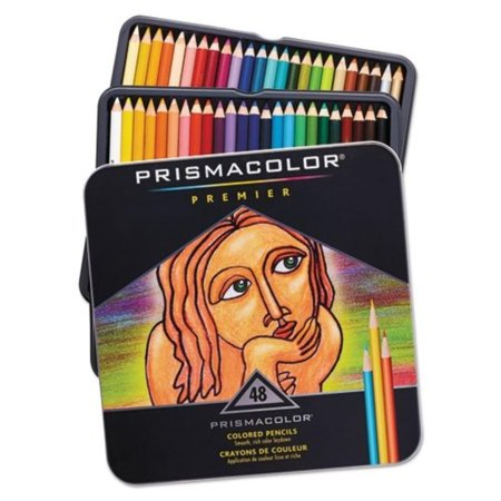 Prismacolor Premier Soft Core Colored Pencil, Assorted Colors (3598T) (1-Pack of 48), Soft, thick cores are perfect for shading and shadows By - Party City Sanford Florida