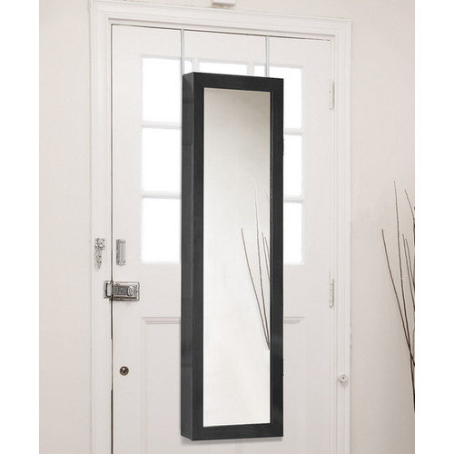 Wholesale Interiors Baxton Studio Reflections Over the Door Jewelry Armoire with Mirror