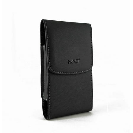 Zte Blade V8 Lite Pouch  Vertical Leather Case Belt Clip Pouch Holster Sleeve For Zte Blade V8 Lite  Blade V8 Mini  Avid Trio  Fits W  Otterbox Symmetry  Commuter   Lifeproof Case On    Black