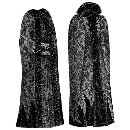 Sewing Pattern: 1891 Camel's Hair & Velvet Cloak Pattern - Gandalf Cloak Pattern