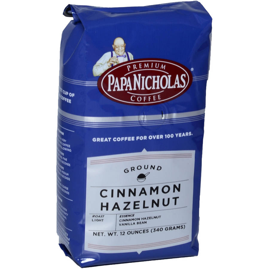PapaNicholas Cinnamon Hazelnut Ground Coffee, 12 oz