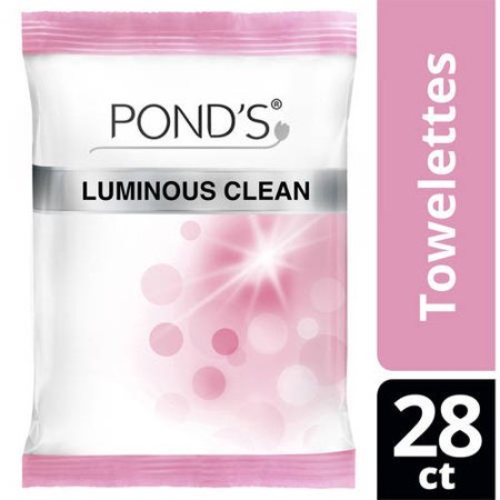 Pond's Luminous Clean MoistureClean Towelettes, 28 ct