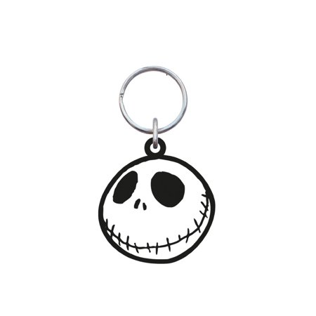 Nightmare Before Christmas Jack Face Rubber Keychain 26802