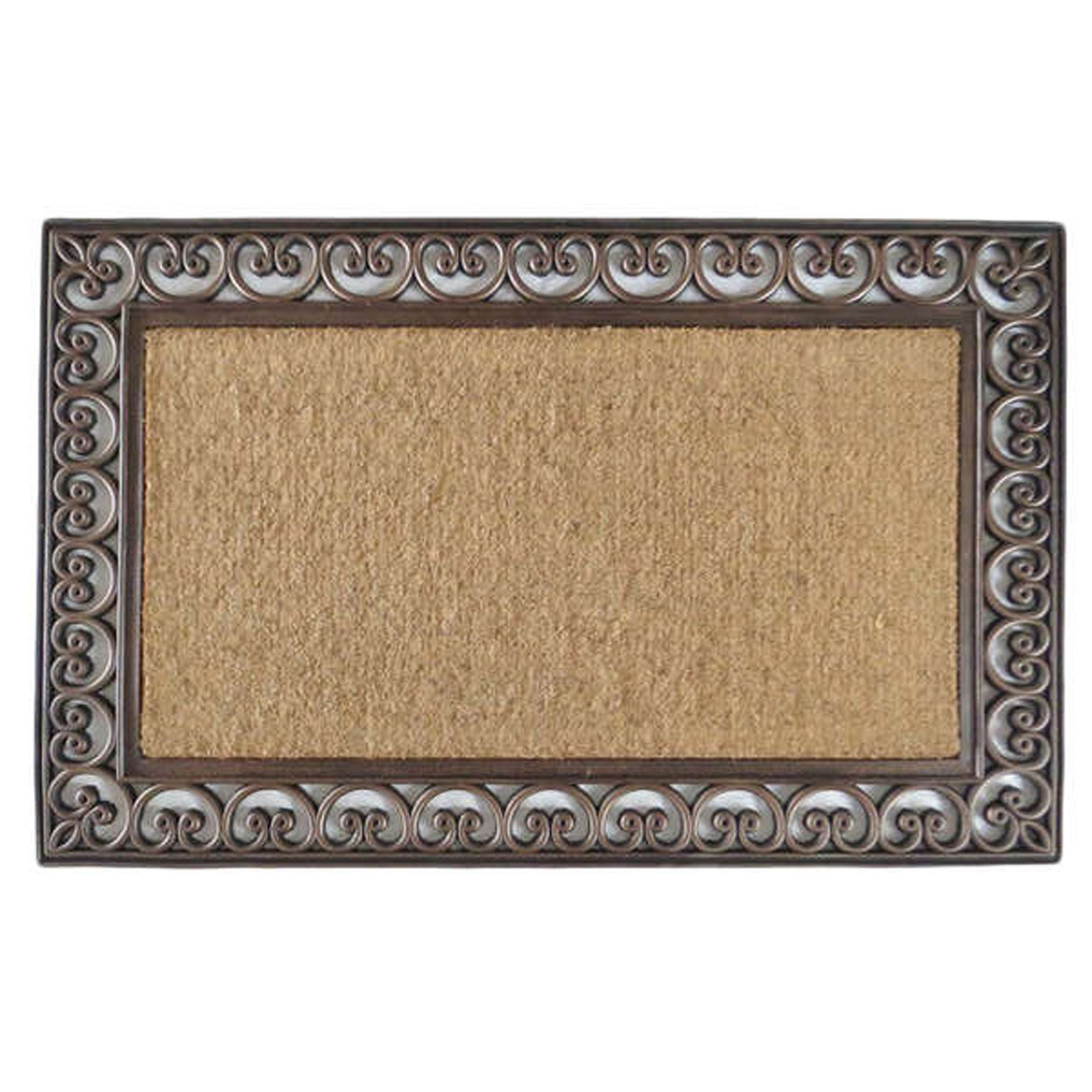 First Impression Classic Paisley Border Extra Large Double Door Mat