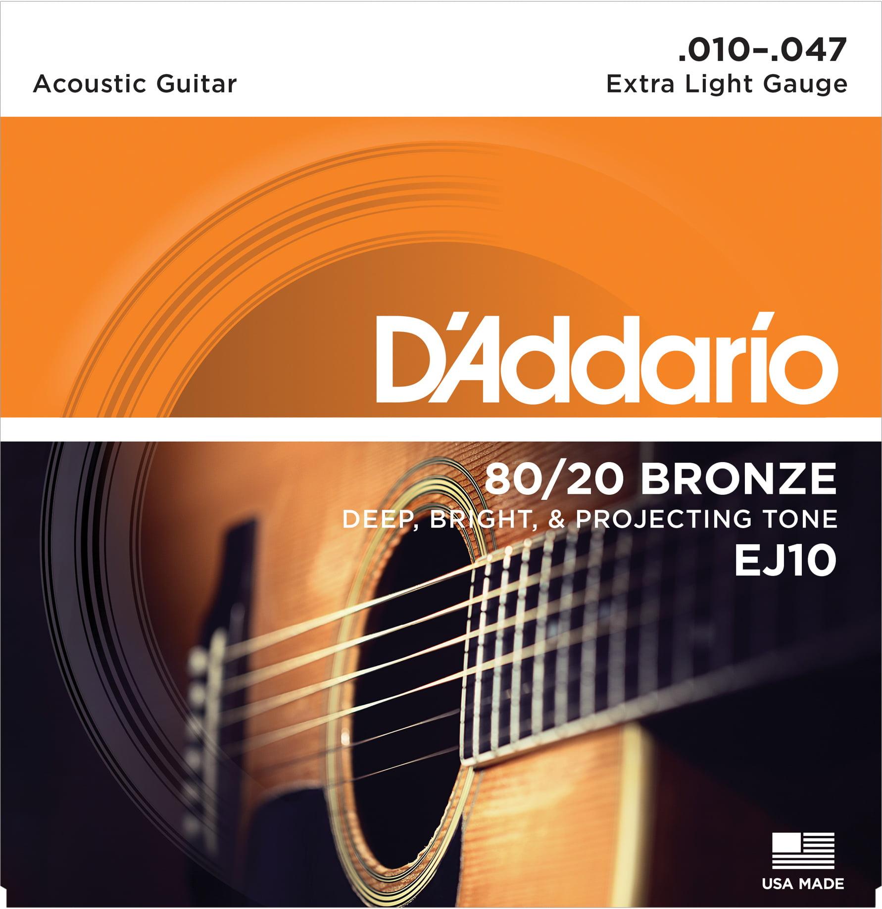 D/'Addario EJ40 Silk Steel Acoustic Guitar Strings Folk 11-47