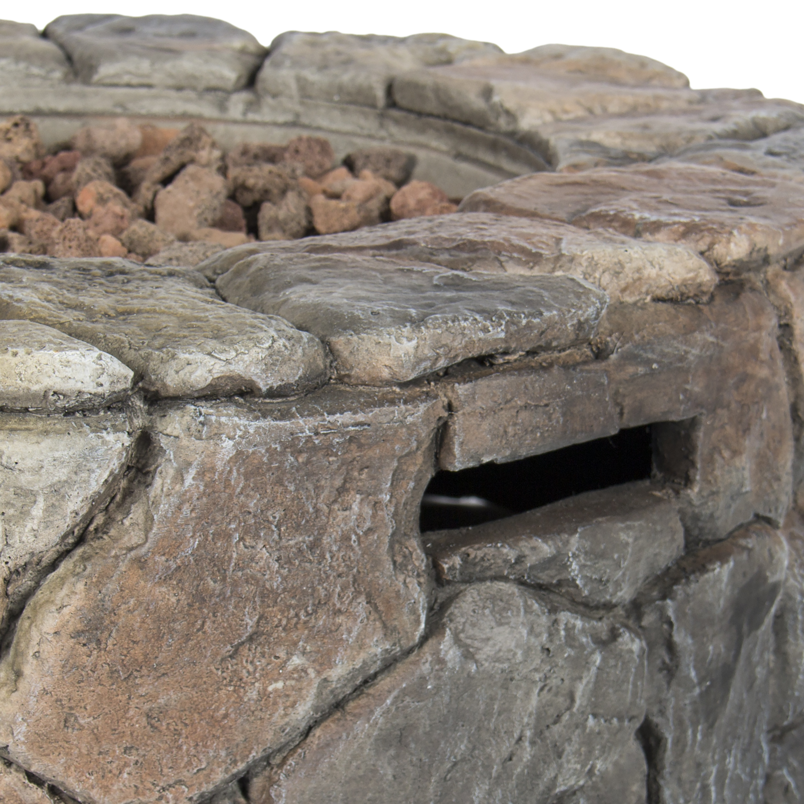 BCP Stone Design Fire Pit Outdoor Home Patio Gas Firepit   Walmart.com  Patio Gas Fire Pit