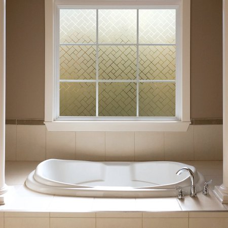 Wendana bathroom window film 3d static decoration self adhesive for uv blocking heat control,privacy glass stickers for bathroom,office 18in. By 80in](Office Window Decorations)