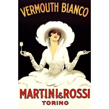 Marcello Dudovich Stretched Canvas Art - Martini Rossi - Large 24 x ...