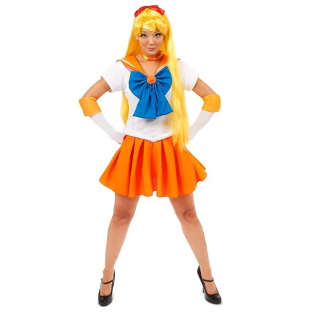 Sailor Moon Venus Teen Costume Teen One Size Fits Most - Child Sailor Moon Costume