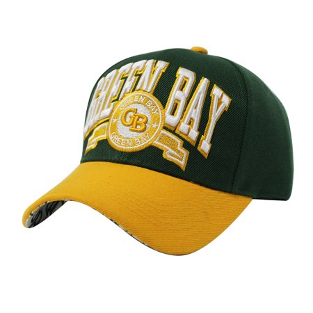 Green Bay Team Color City Name Embroidered Baseball - Party City Green Bay Wi