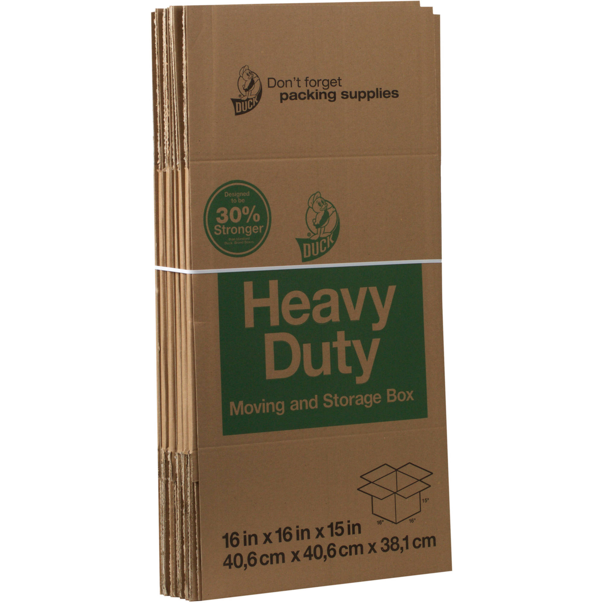 Duck Brand Corrugate Boxes, 16 in. x 16 in. x 15 in., Brown, 6-Count