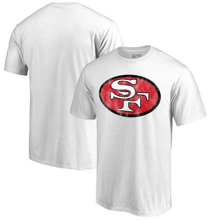quality design b7a6a c2ae4 San Francisco 49ers NFL Pro Line by Fanatics Branded Throwback Logo T-shirt  - White