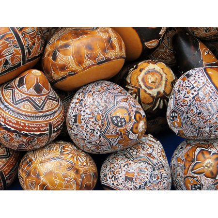LAMINATED POSTER Engraving Decoration Market Colombia Calabashes Poster Print 24 x 36