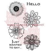 """Woodware Clear Stamps 3.5""""X5.5""""-Mini Flowers"""