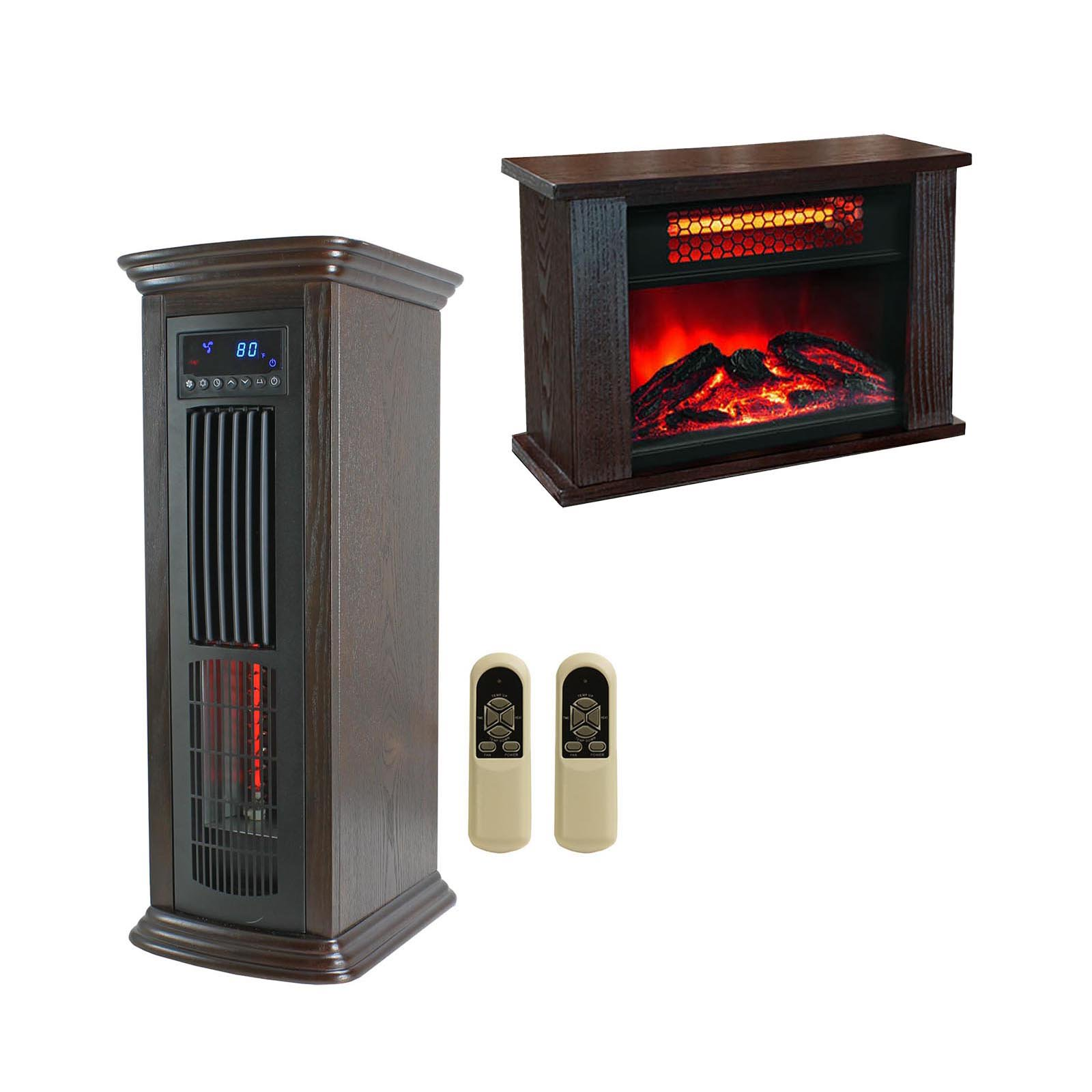 LifePro 150 SF Room Infrared Tower Space Heater + Mini Fi...