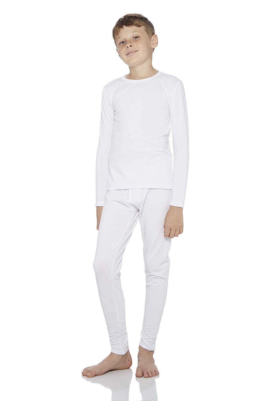 New Boys Thermal Long Johns Underwear Set Navy S 6-8