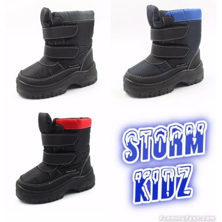 Storm Kidz Cold Weather Snow Boot (Toddler/Little Kid/Big Kid) MANY COLORS Velcro