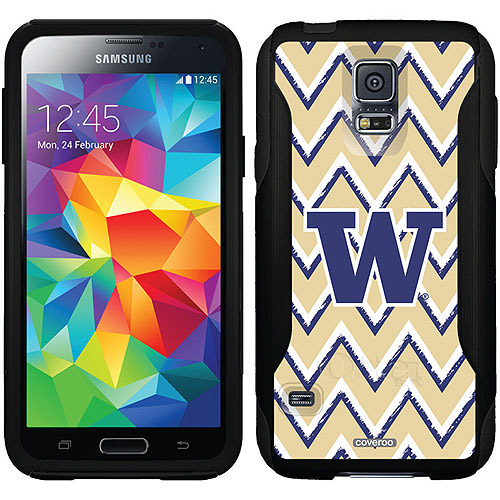 University of Washington Sketchy Chevron Design on OtterBox Commuter Series Case for Samsung Galaxy S5