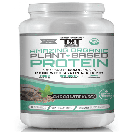 Amazing Organic Plant Based Vegan Protein Powder made with Probiotic's, Digestive Enzymes & Organic Stevia. Vegetarian Protein Shake for Healthy Gut