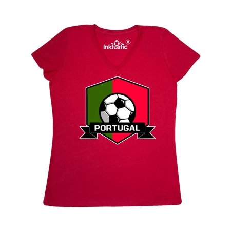 Portugal Flag T-shirt - Soccer Portugal Flag Banner Women's V-Neck T-Shirt