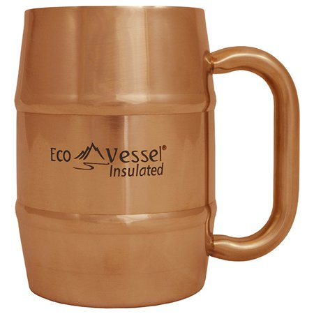 - Eco Vessel Double Barrel Insulated 16 oz. Mug Copper w/Lid