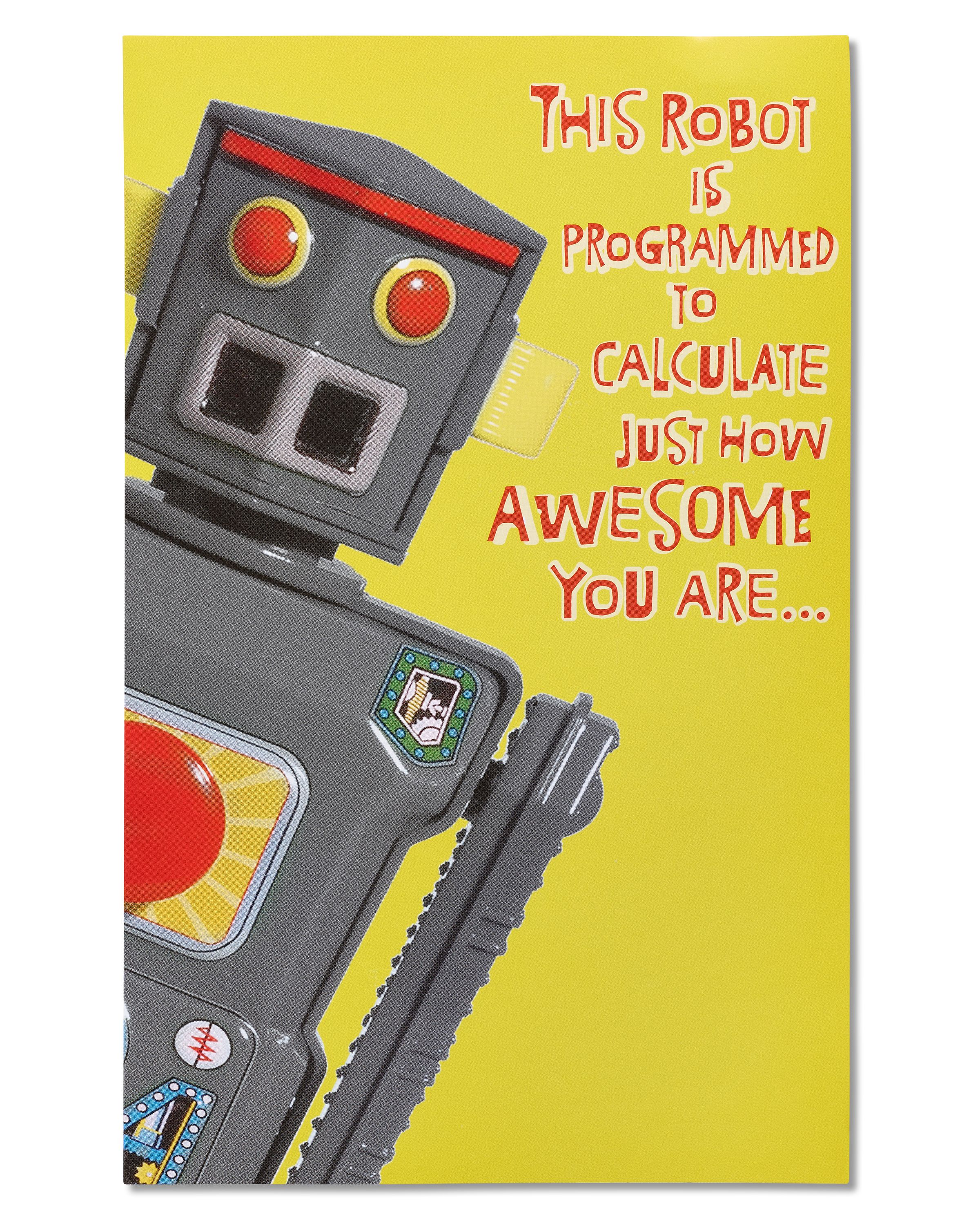American Greetings Robot Birthday Card With Sound And Movement