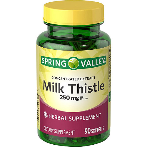 Spring Valley Milk Thistle Softgels, 250 mg, 90 count