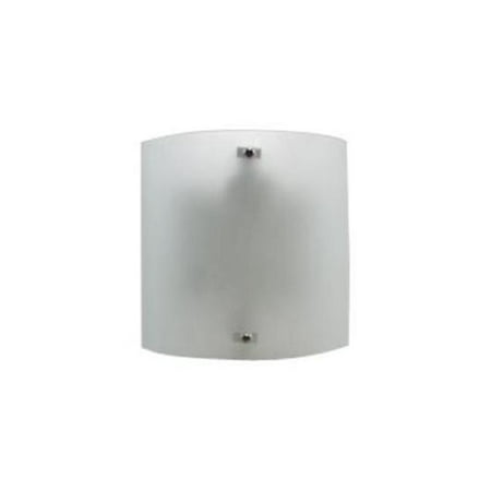 Efficient Lighting EL-320-123 Contemporary Wall Sconce  Brushed Nickel Finish with Frosted Glass  Energy Star Qualified
