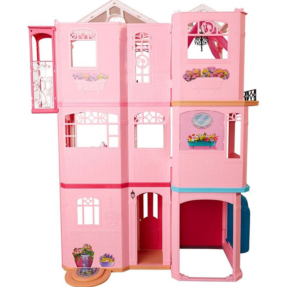 Mattel Barbie Doll 3 Story Vintage Play Dreamhouse W/ Furniture And  Accessories