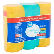 Multi-Surface Wipes: Great Value Disinfecting Wipes