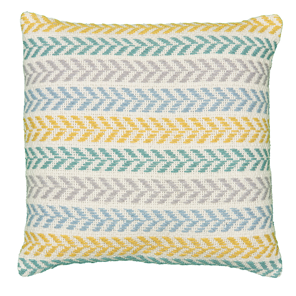 """LR Home Chevron Stripes Yellow Mustard 18"""" x 18"""" Indoor Square Altair Sunny Day Decorative Throw Pillow"""