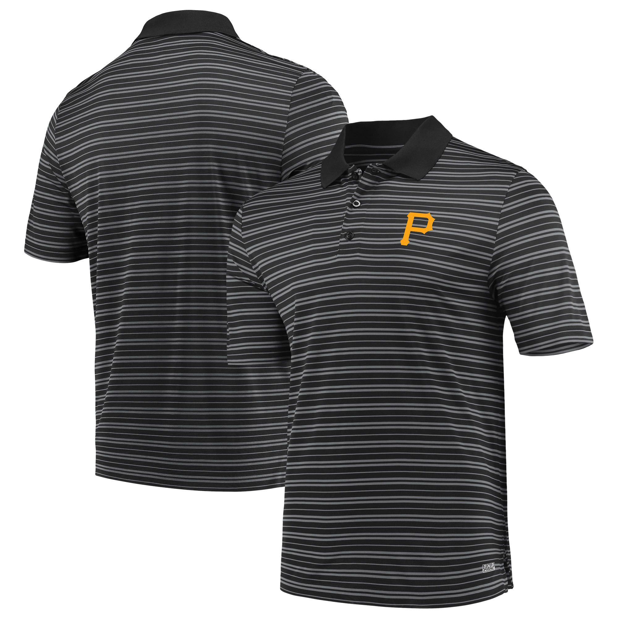 Men's Majestic Black Pittsburgh Pirates Fan Engagement Polo