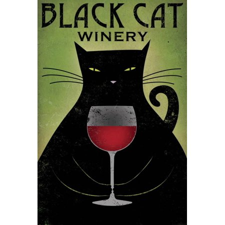 Black Cat Winery Print Wall Art By Ryan Fowler