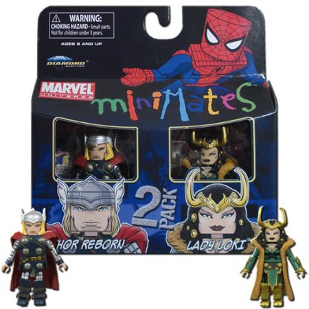 Marvel Minimates Series 33 Mini Figure 2Pack Thor & Loki - image 1 of 1