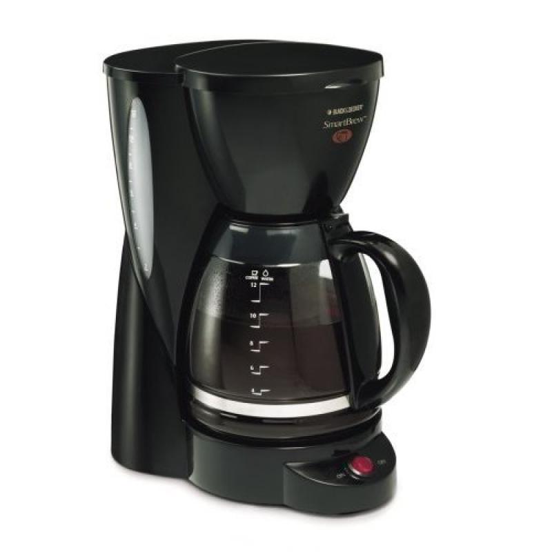 Black & Decker DCM2000B SmartBrew 12-Cup Coffeemaker, Black