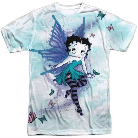 Betty Boop Men's  Sparkle Fairy Sublimation T-shirt White](Betty Boop Halloween Graphics)