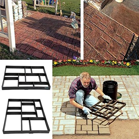 Cobblestone Concrete Mold - Yosoo Walk Maker,Path Maker Mold,Random Stone Mold,Driveway Pathmate Stone Mold Paving Concrete Stepping Stone Mould Pavement Paver,10 grid