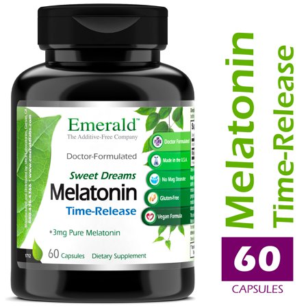 Emerald Laboratories (Sweet Dreams) - Time Release Melatonin (3 mg) - Promotes Relaxation & Healthy Sleep Patterns, More Energy, Better Overall Health - 60 Capsules