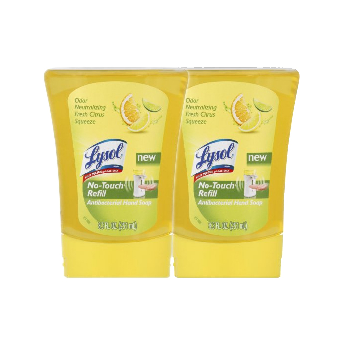 Lysol No-Touch Antibacterial Hand Soap Refills, Lemon & Verbena, 8.5oz