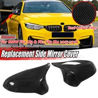 Real Carbon Fiber Sided Mirror Cover For BMW 2015-18 F80 M3 F82 M4 Direct Replacement