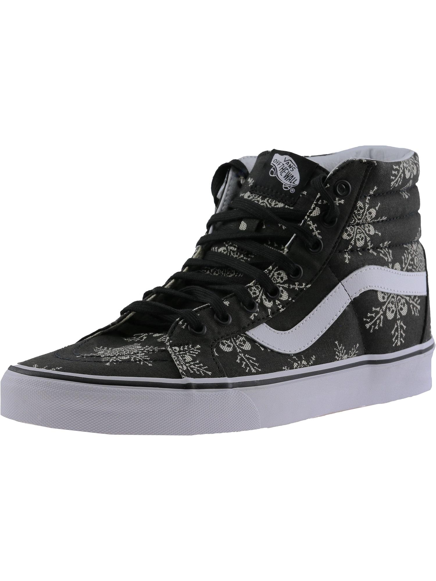 Vans Vans Sk8 Hi Reissue Van Doren Skull Snowflake Black Ankle High Fabric Fashion Sneaker 12M 10.5M