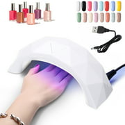 9W LED Gel Nail Lamp UV Nail Dryer Lamp Curing for gel and regular polish Professional Fingernail & Toenail Gel Curing Nail Art Painting Salon Tools Manicure Light Art Curing