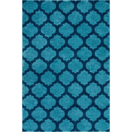 Trellis Rustic 3 Light - Well Woven Mystic Zoe Modern Trellis Light Blue 5'3