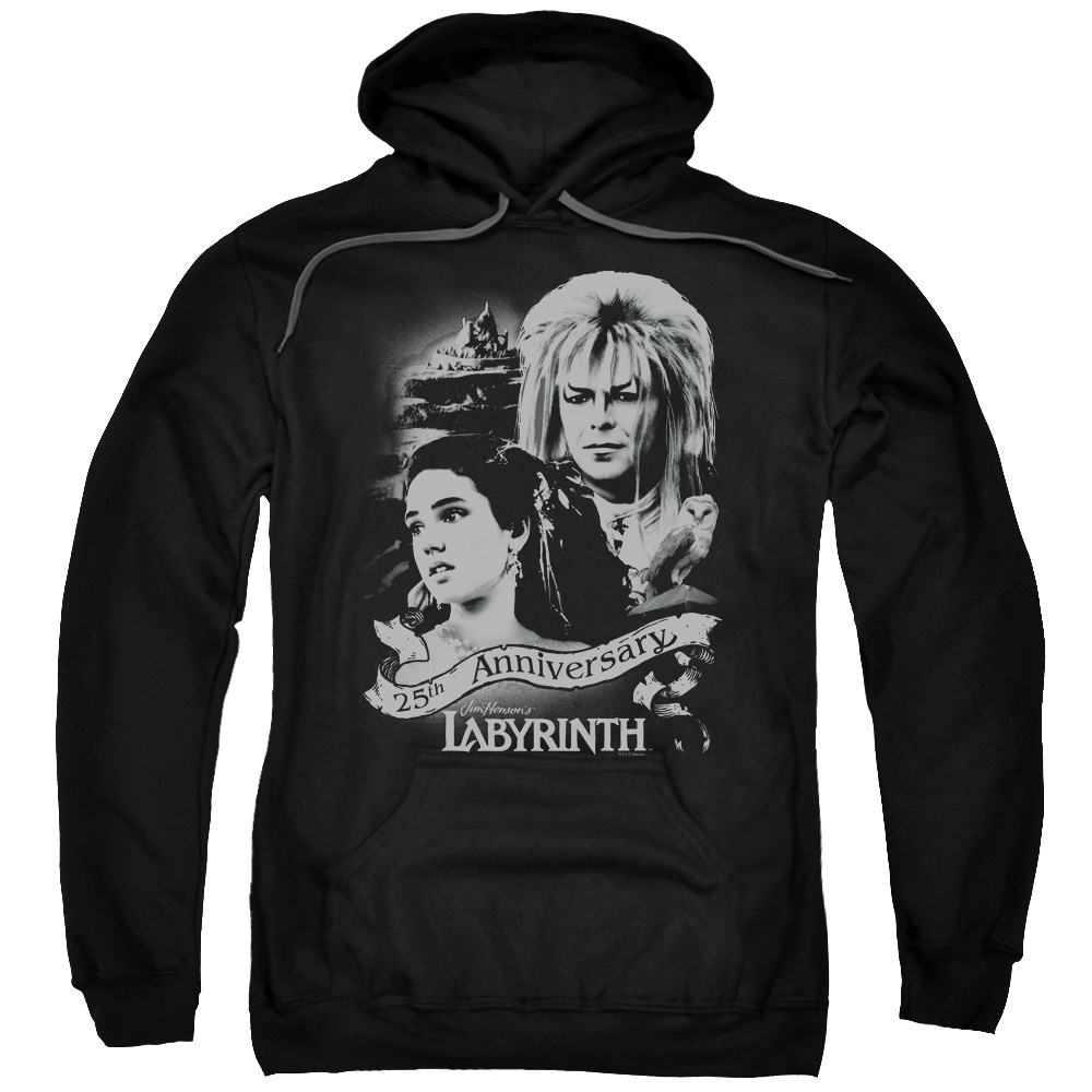 LABYRINTH/ANNIVERSARY-ADULT PULL-OVER HOODIE-BLACK-2X