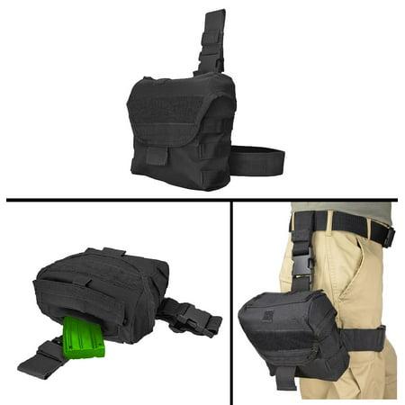 Ultimate Arms Gear Para Ordinance Pistol Handgun Tactical Black Utility Multi Purpose Molle Dump Ammo Ammunition Magazine Stripper Clips Pouch Drop Leg   Belt Adjustments