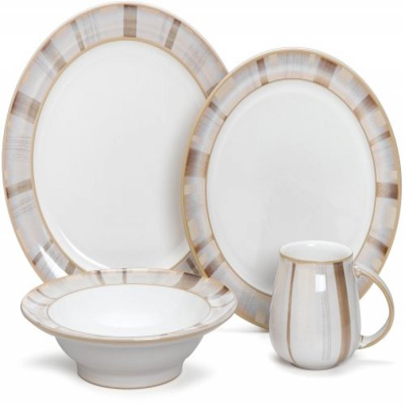 Denby Truffle Layers 4-Piece Place Setting, Service for 1 by Denby