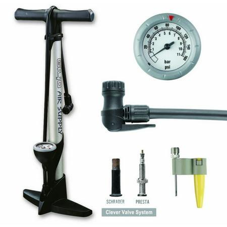 Giyo High Pressure Bicycle Bike Floor Air Pump Gauge