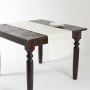 Saro Lifestyle 9113.I1672B 16 x 72 in. Ellison Rectangular Basket Weave Design Table Runner - Ivory